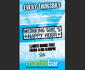 Working Girl's Happy Hour Martini Bar - tagged with happy hour