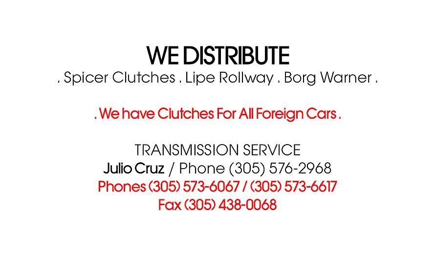 Miami Clutch Service, Inc
