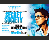 Martini Bar Secret Society - tagged with 1 drinks