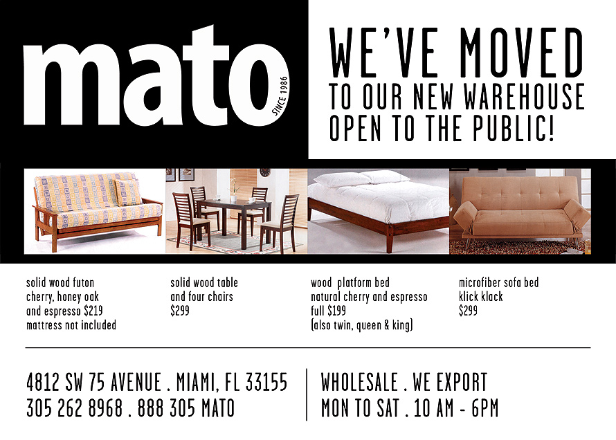 Mato We've Moved to Our New Warehouse