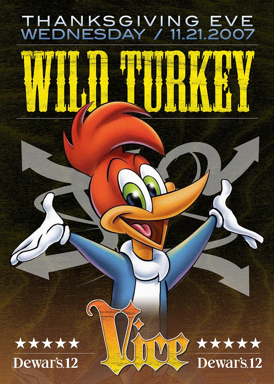 Wild Turkey Thanksgiving Eve