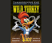 Wild Turkey Thanksgiving Eve - tagged with cartoon character