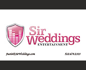 Sir Weddings Entertainment - Austin Graphic Designs