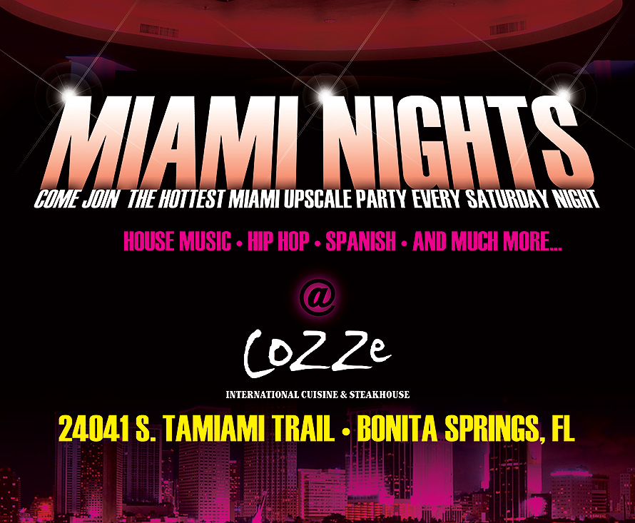 Miami Nights Cozze International Cuisine and Steakhouse
