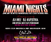 Miami Nights Cozze International Cuisine and Steakhouse - Latin Graphic Designs