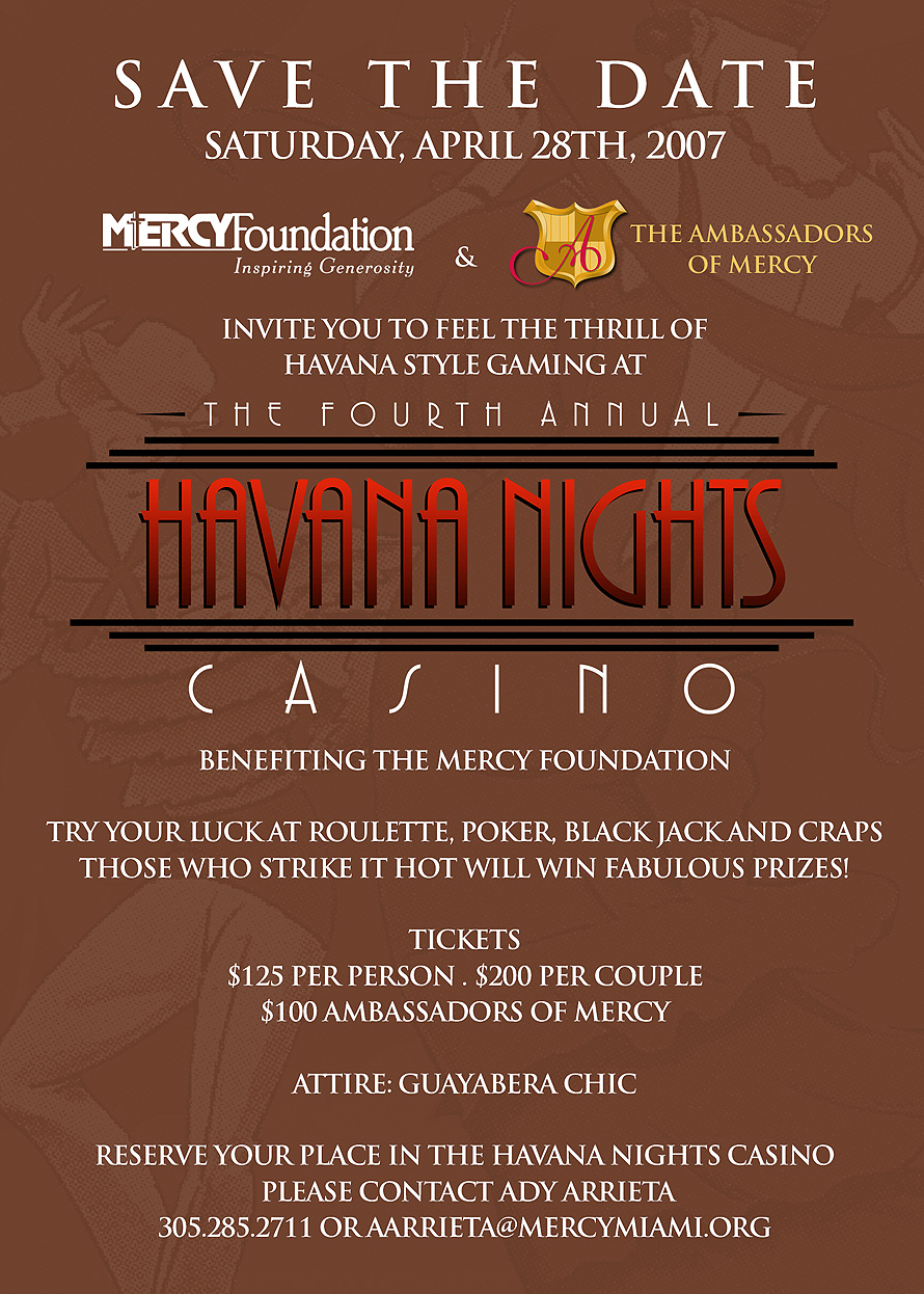 Save The Date Havana Nights Foundation