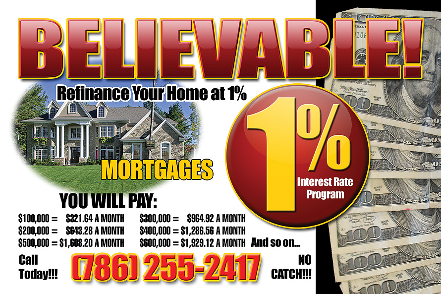 Refinance Your Home 1%