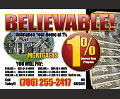 Refinance Your Home 1% - Postcards