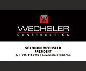 Wechsler Construction - created March 01, 2007