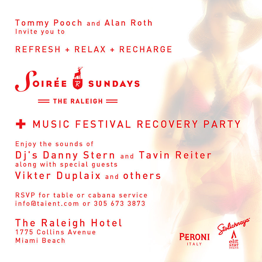 Music Festival Recovery Party