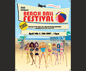 994 Magazine Beach Ball Festival  - tagged with vector art