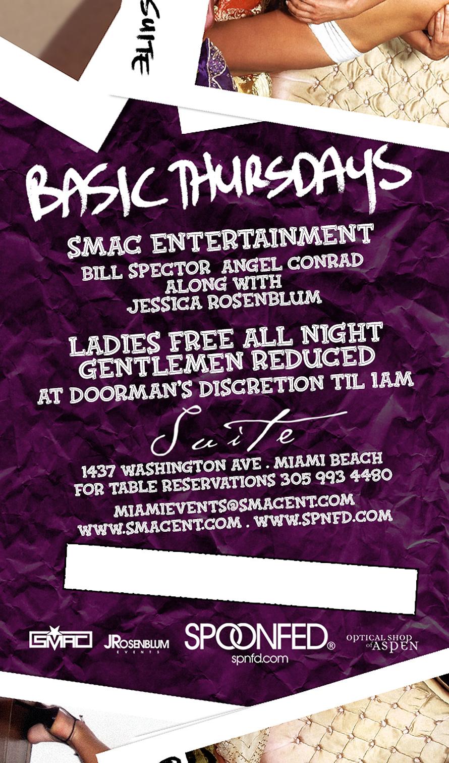 Smac Basic Thursdays Ladies Free
