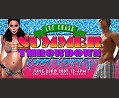 Summer Throwdown Pool Party - 825x1650 graphic design