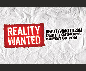 Reality Wanted Reality TV Casting, News, Interviews and Friends - Promotion Graphic Designs