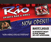 Rio Sports Bar and Grill - tagged with wed