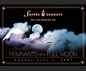 Soiree Sundays  - tagged with full moon