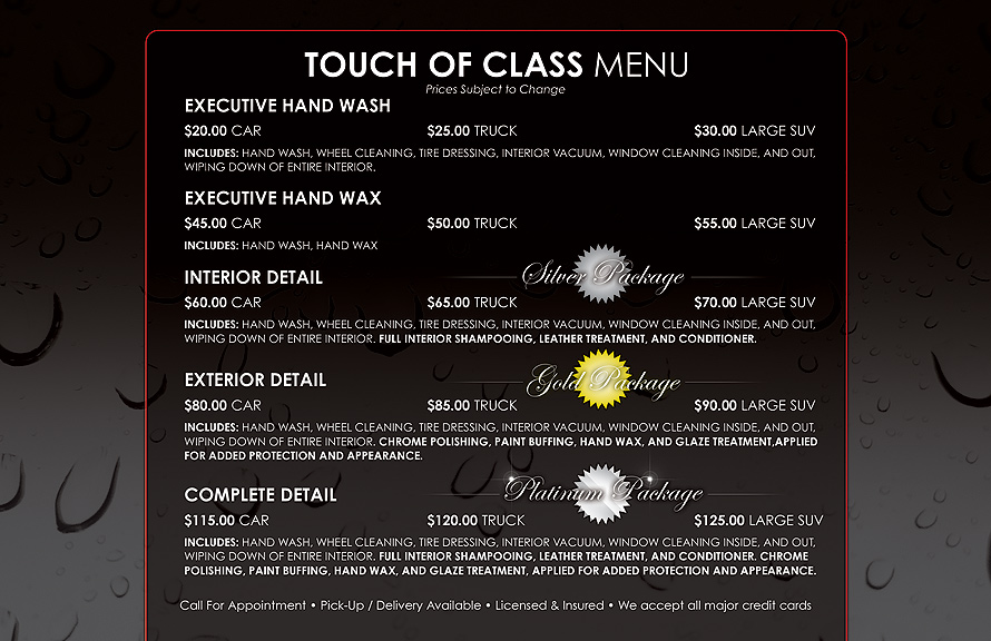 Touch of Class Auto Spa