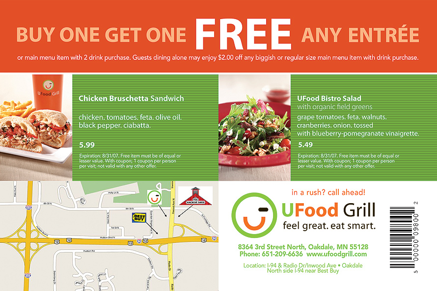 UFood Grill Buy One Get One Free