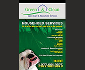 Green and Clean Lawn Care and Household Services - tagged with out