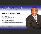 Kingdom First Management, Inc - 538x913 graphic design
