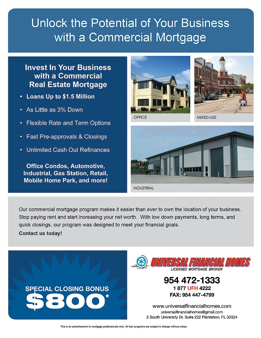 Universal Financial Homes Licensed Mortgage Broker
