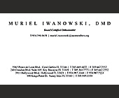 Muriel Iwanowski DMD - Healthcare Graphic Designs