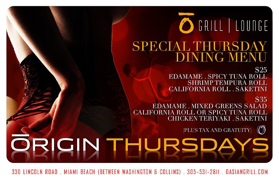 Grill Lounge Origin Thursdays