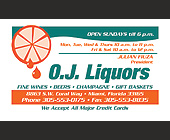 OJ Liquors - tagged with j