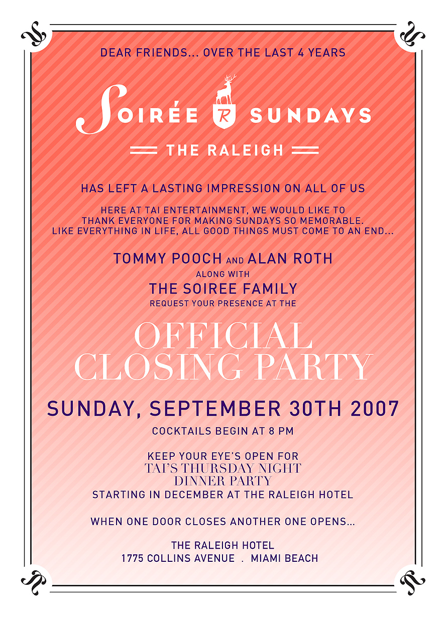 Official Closing Party