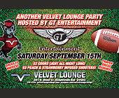 Velvet Lounge Party - Reggae Graphic Designs