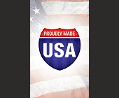 Proudly Made USA - tagged with american flag