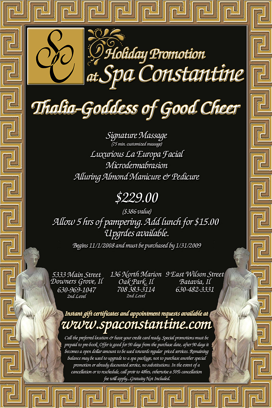 Spa Constantine Holiday Promotion