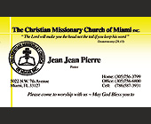 The Christian Missionary Church of Miami - tagged with 30pm