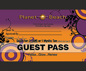 Planet Beach Guest Pass - tagged with glow