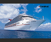 Carnival Cruise Lines Splendor Postcard - tagged with 22