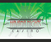 The Fifth Annual Havana Nights Casino - 1500x2100 graphic design