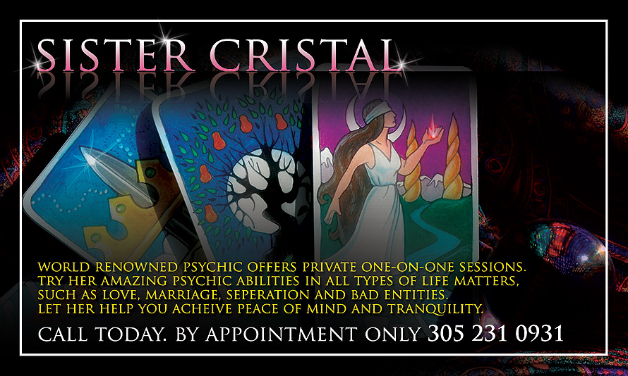 Sister Cristal World Reowned Psychic Offers