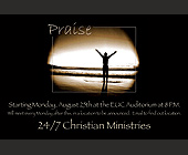 Praise 24/7 Christian Ministries  - tagged with sand