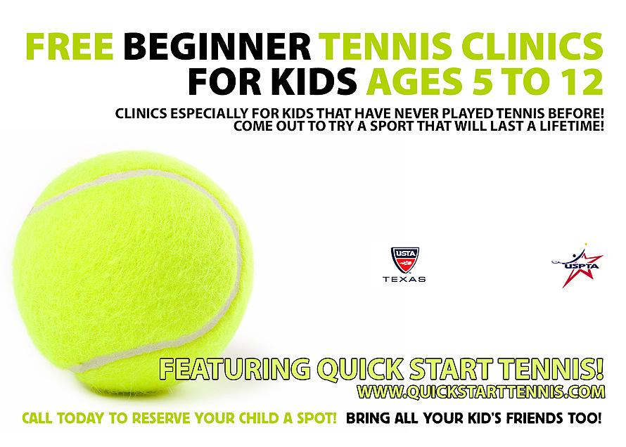 Free Beginner Tennis Clinics for Kids