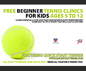 Free Beginner Tennis Clinics for Kids - Texas Graphic Designs