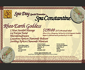 Spa Constantine Promotion - tagged with becomes a open dollar amount to be used towards regular