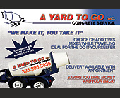 A Yard to Go, Inc - Denver Graphic Designs