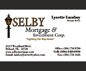 Shelby Mortgage and Investment Corp - tagged with lamp