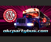 Oklahoma Party Bus - tagged with lens flare