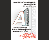 Accounting Professional Tax Preparation - tagged with e