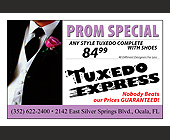 Tuxedo Express Prom Special - tagged with for a free