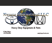 Nwaeze International LLC Heavy Duty Equipment & Parts - 1126x677 graphic design