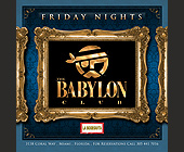 Friday Nights at The Babylon Club - Latin Graphic Designs