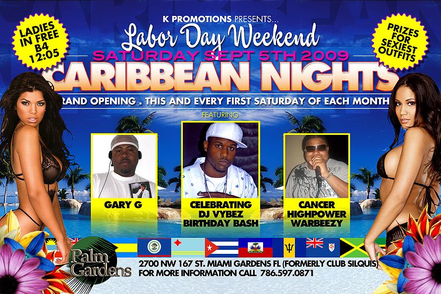 Caribbean Nights Labor Day Weekend