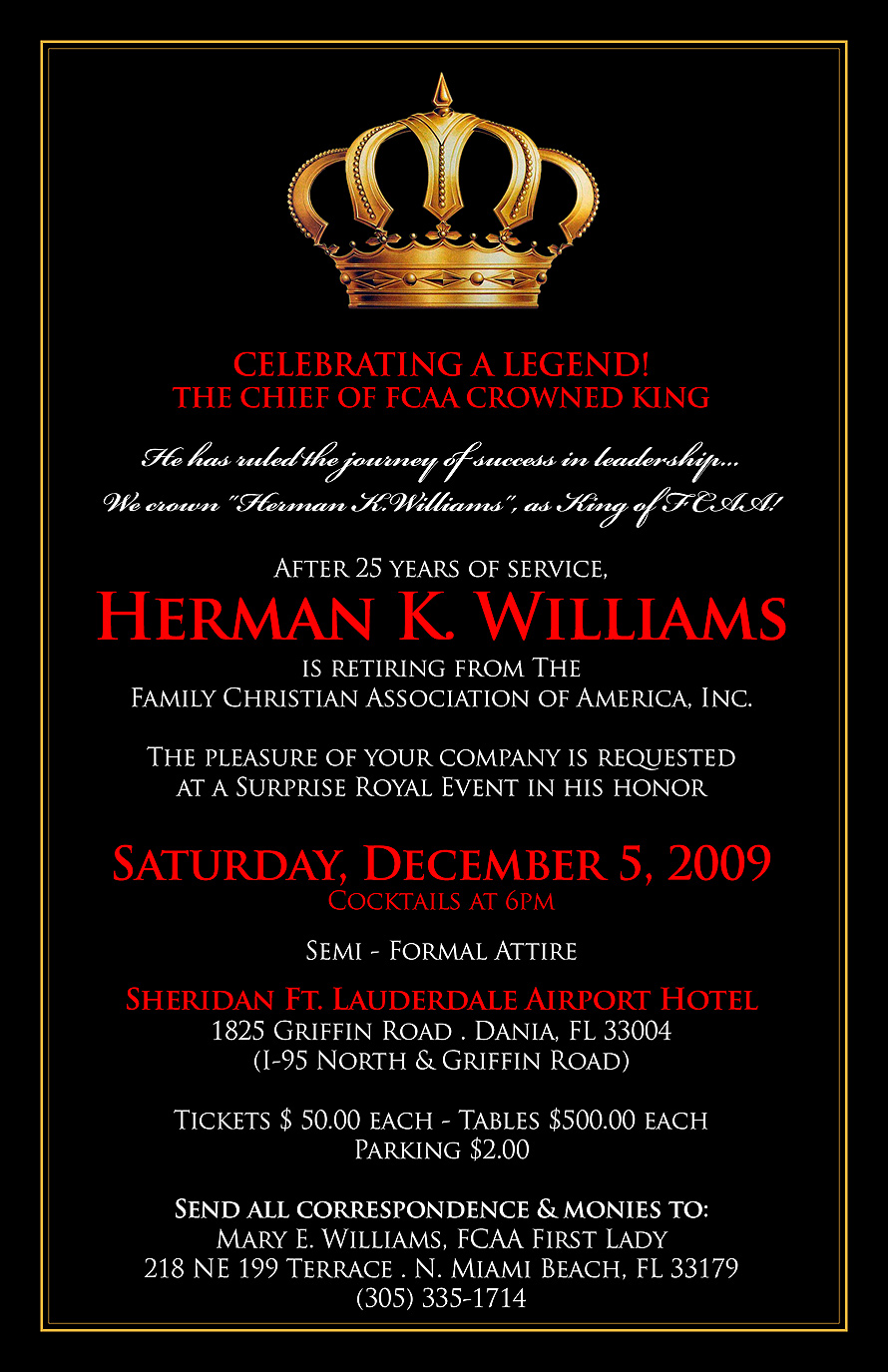 Celebrating a Legend Herman K. Williams